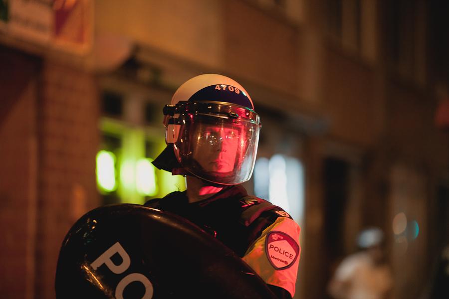 Manifestation de soir : le problème, c'est pas Line, c'est la hausse ! [photos Thien V]