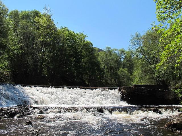 Weir above Orrin Falls