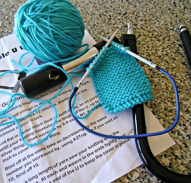next knitting project - u-lock cozy