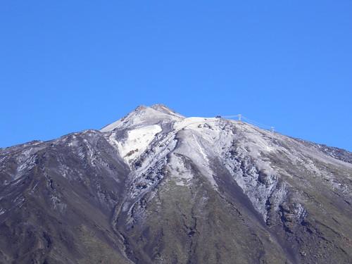 Пик Тейде, засыпаный снегом // Peak of Teide in snow