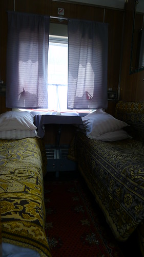 Room on the Mongolia to Siberia Train
