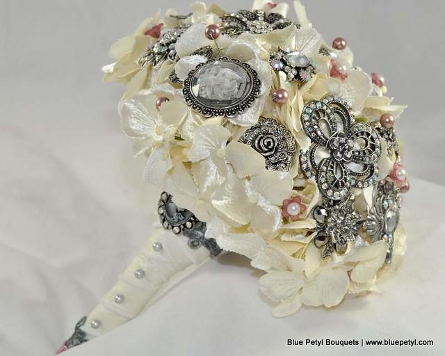 Antique Hydrangea Wedding Bouquet