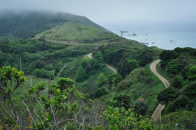 Mendocino coastal route