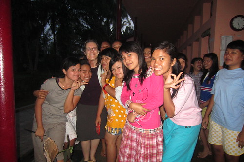 at the women's dormitory