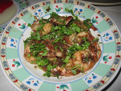 Caramelized Shrimp with Garlic and Shallots