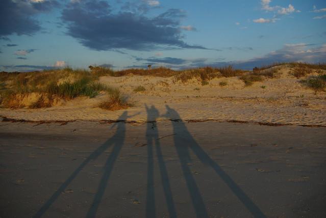 family shadow photo