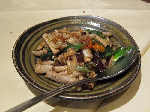 Dry Tofu with Sliced Pork