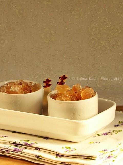 Cardamom Flavoured Iced Tea Granita