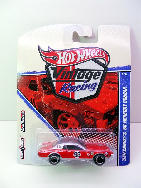 hot wheels vintage racing dan gurney's '68 mercury cougar  (1)