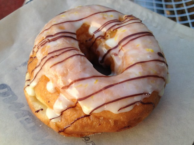 Candied orange blossom donut - Dynamo Donuts