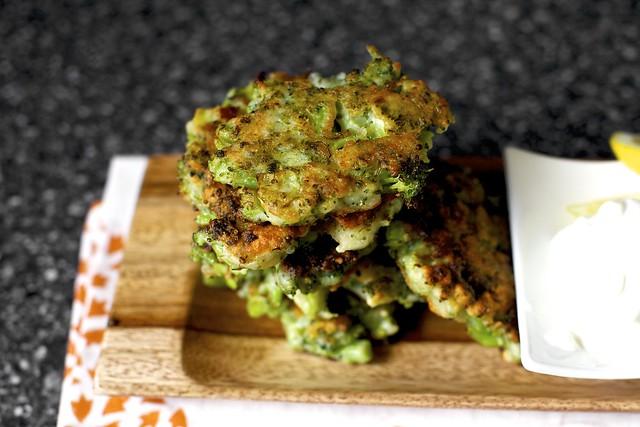 crisp broccoli parmesan fritters