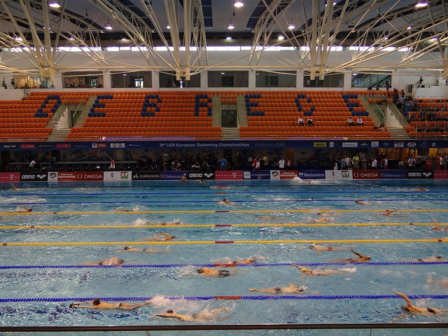 The Debrecen 2012 pool during warmup