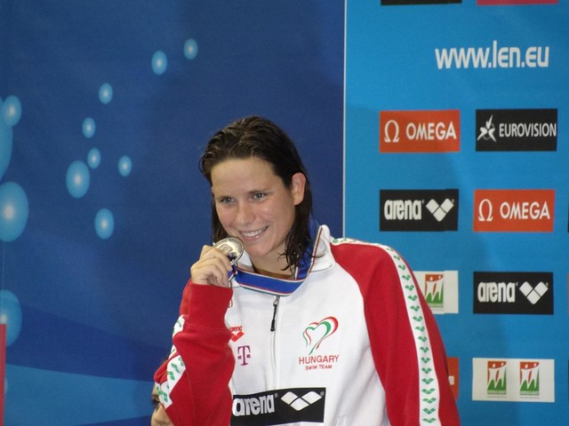 Eva Risztov on the Debrecen 2012 podium