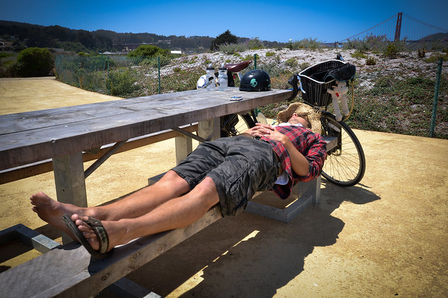 Sleeping hobo in SF