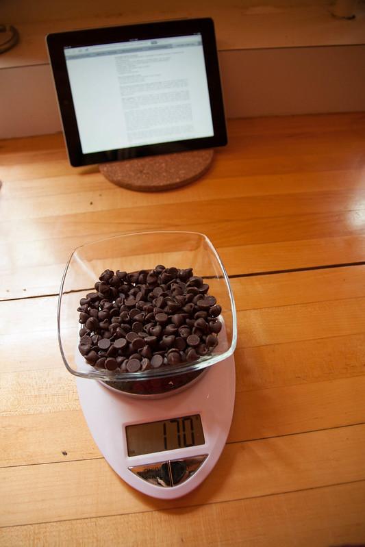 170 grams of semisweet chocolate