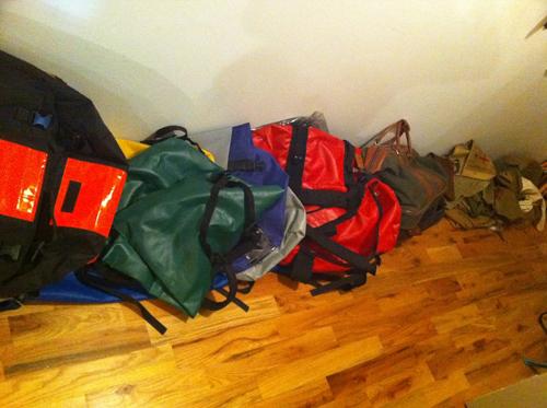 Hallway of bags