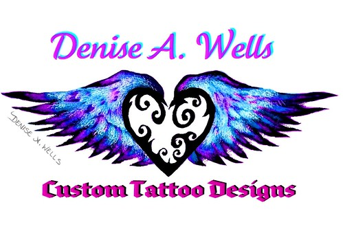 Winged Heart Tattoo design by Denise A.Wells