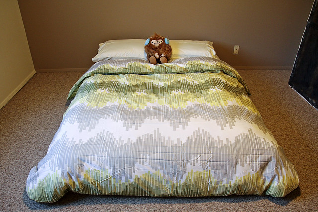 we got a bed!