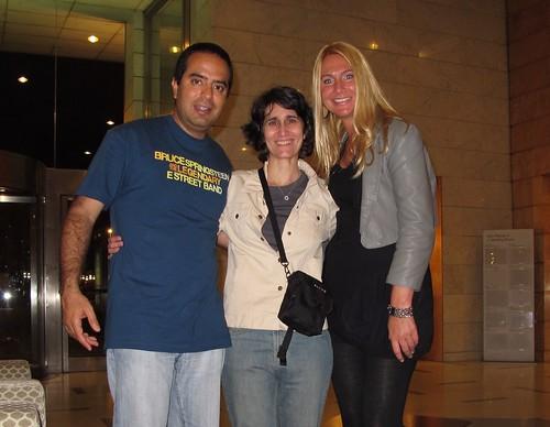 Con Miranda en su hotel. Barcelona 17 de mayo 2012