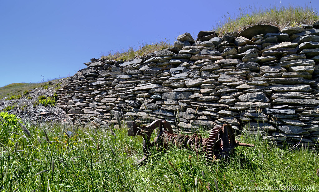 Ochre Pit Cove wall and winch