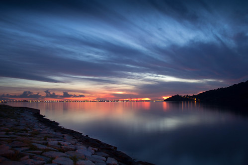 Sunrise from Queensbay Mall Penang