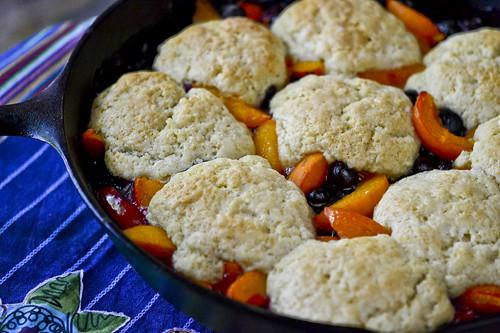 Apricot Blueberry Cobbler 7