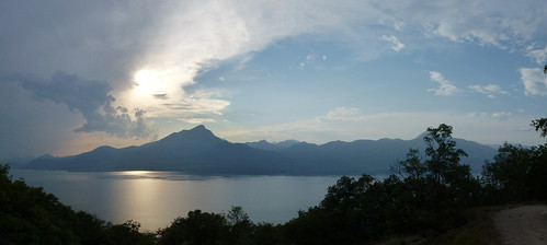 View of Pizzocolo and the lake from Crero