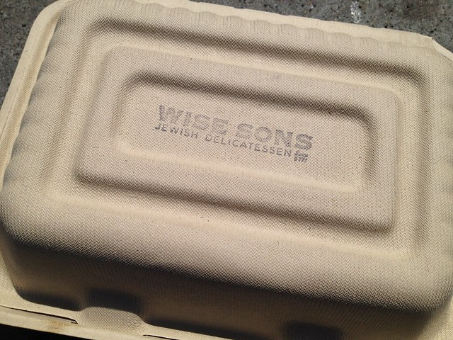 Wise Sons Jewish Delicatessen to go container