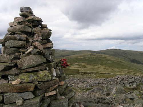 Carrock Fell cairn and onward route