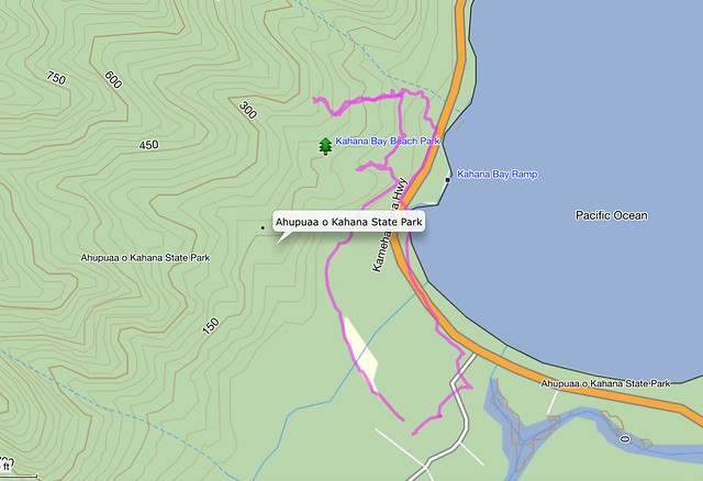 Topographic Map of Kapa'ele'ele Trail