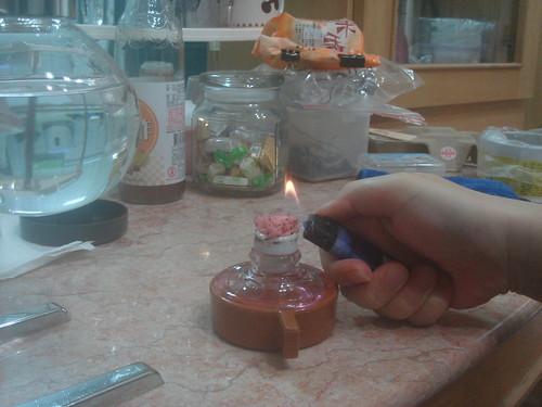 syphon點燃酒精燈2