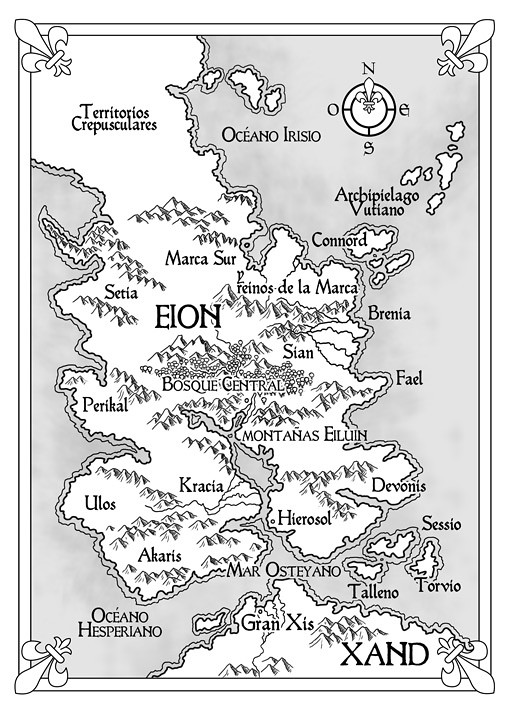Mapa 1: Shadowmarch, La frontera de las sombras - Tad Williams - Ed. Alamut (pablouria.com)