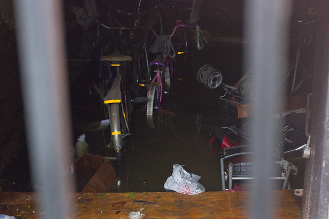 A flooded basement in Alphabet City.