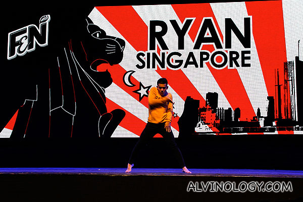 Ryan on stage