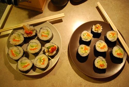 Vegan Sushi Roll Presentation