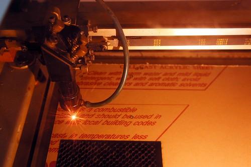 Laser Cutter at Work