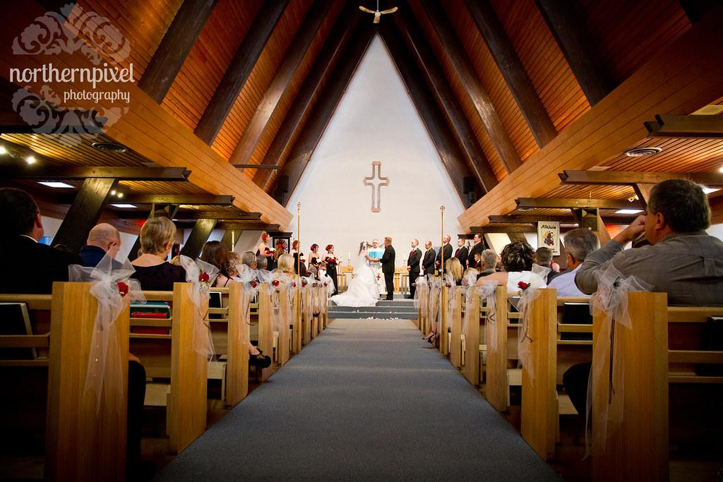 Wedding St Michael's Church Prince George British Columbia Canada