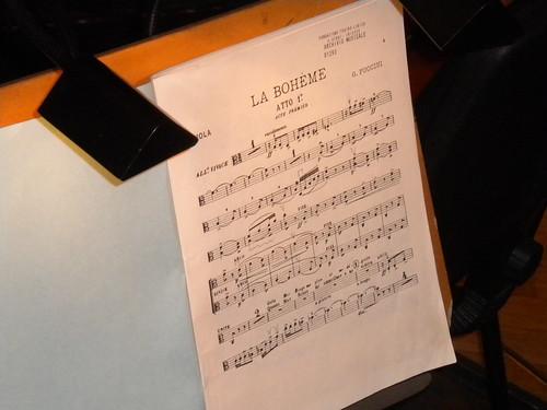 Partitura Bohème