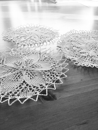Three doilies