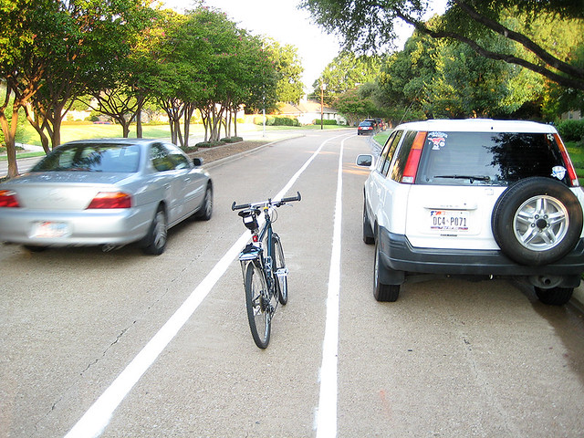 Bike Lane In Door Zone