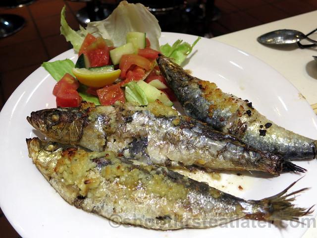 Portugese roasted sardines HK$62