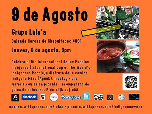 9 de Agosto Comida Mixe (Ayuuk) @ Oaxaca 08.2012 #ipw2012 #rtyear2012 #UNIndigenousDay