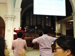 Barry Webb at Orchard Road Presbyterian Church, Orchard Road