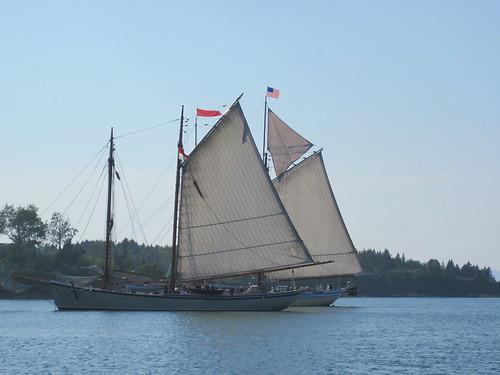 Dueling schooners