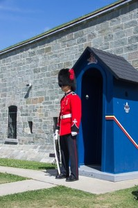 A guand infront of the Citadel in Quebec City