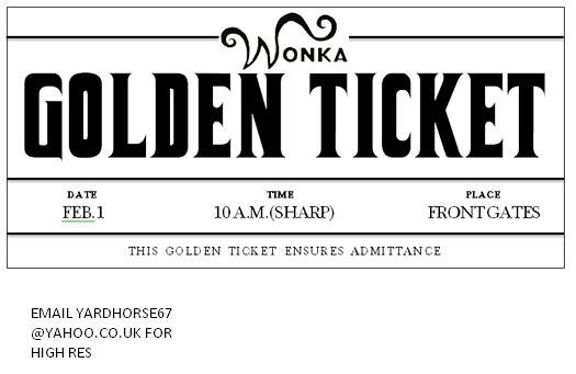 photograph about Wonka Golden Ticket Printable known as for le noeud papillon of sydney for. fixed examples upon