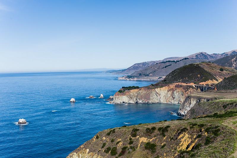 Mixby Bridge, California central coast line