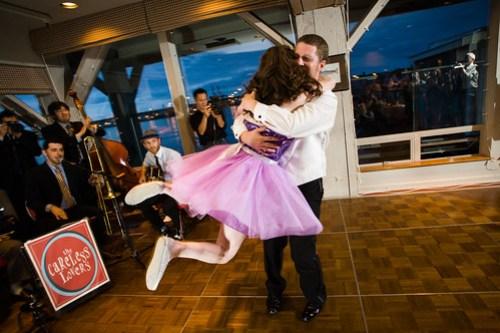 Wedding swing dance finale