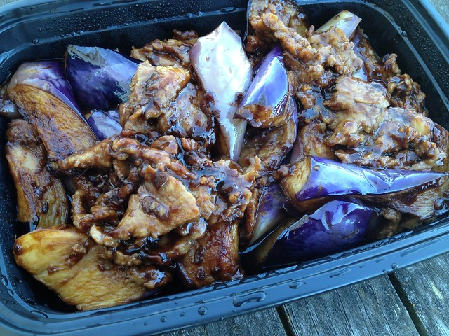 Beef with eggplants - House of Chen