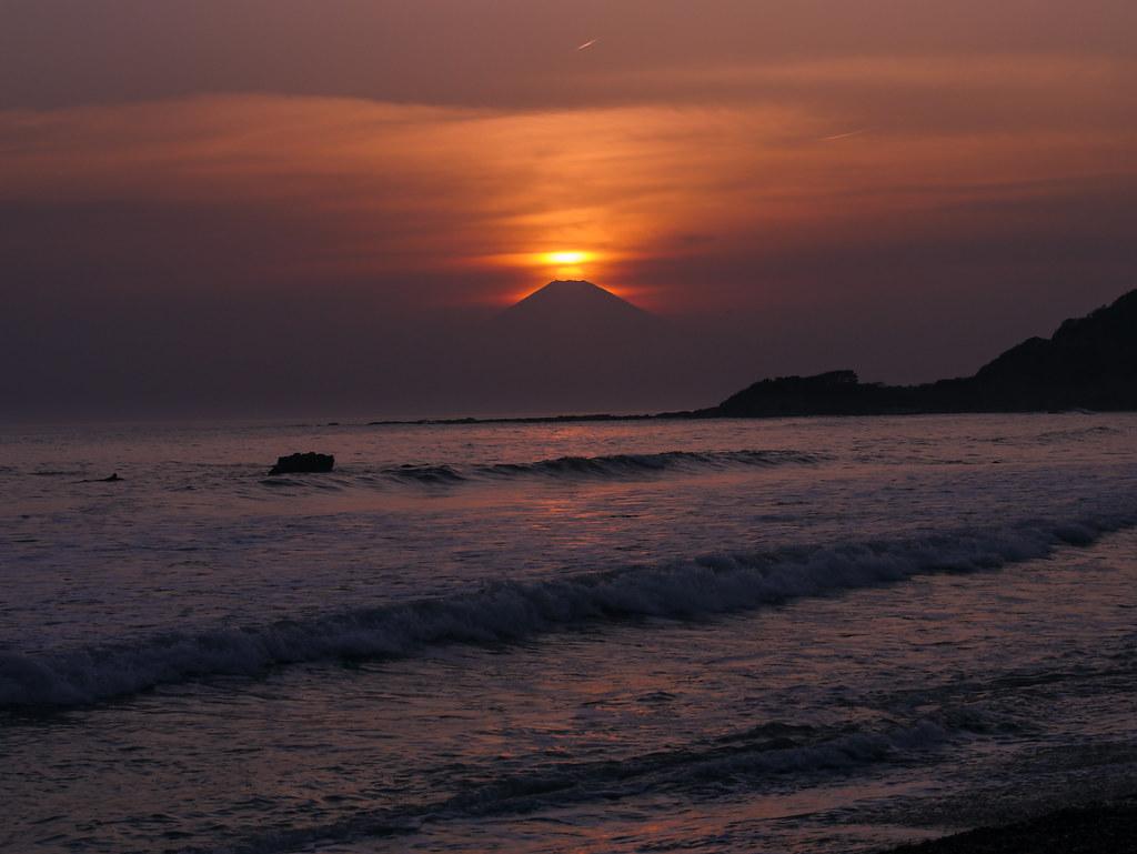 Diamond Fuji (Sun set on Mt. Fuji)
